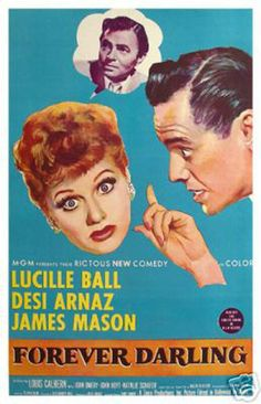 Forever Darling Lucille Ball Vintage Movie Poster