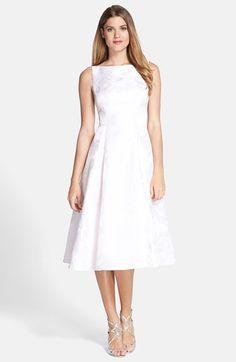 Adrianna Papell Jacquard Midi Dress (Regular & Petite) available at #Nordstrom