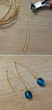 Simple Fishook Earrings - Click on the image for the Tutorial!