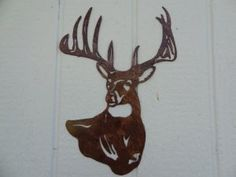 Deer Buck Head Metal Wall Art Country Rustic Home Decor - Deer Head Metal Wall Art Measures Wide By Tall - Hand Made in the USA - High Quality Steel Construction - Textured Antique Copper Powder Coat Finish - Custom Orders Available Rustic Signs, Rustic Decor, Western Decor, Home Decor Furniture, Rustic Furniture, Metal Walls, Metal Wall Art, Welding Art Projects, Wood Projects