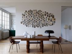 Diy Wall Photo Collage Ideas without Frames 48 Wall Collage without Frames 17 Layout Ideas Collage Foto, Collage Mural, Photo Wall Collage, Collage Ideas, Photo Collages, Collage Frames, Picture Wall, Attic Renovation, Attic Remodel