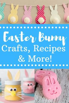 Easter Bunny Crafts, Recipes, and MORE! Easy Easter DIY crafts for all ages! #Easter #EasterCrafts #EasterRecipes #EasterFood #BunnyCrafts #KidsCrafts