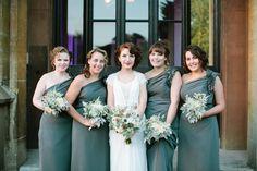 Chic Stylish Surrey Wedding Green Bridesmaid Dresses http://www.tarahcoonan.com/
