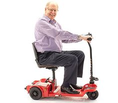 Mobility Scooters Echo Folding Scooter Shoprider Travel Mobility (RED) * This is an Amazon Associate's Pin. Find out more on Amazon website by clicking the image.