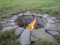 Sunken Granite Fire Pit