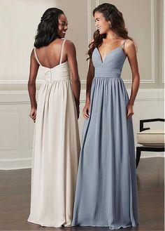 f31873ab23f  77.99  Charming Chiffon Spaghetti Straps Neckline Floor-length A-line  Bridesmaid Dresses