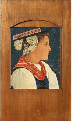 Ernest Biéler (Swiss, 1863-1948) «Portrait of a Valaisanne» 1923