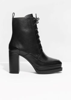 innovative design f1a53 42d66 Other Stories   Lace-Up Ankle Boots Lace Up Ankle Boots, Crazy Shoes