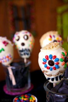 Peras Calaveras de Chocolate - recetas Día de Muertos y Halloween - La Cooquette #DayoftheDead