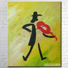 The Soloist Hand Painted Abstract Oil Painting On Canvas