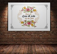 White Floral Postcard Template by Leza on Creative Market