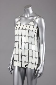 Paco Rabanne metal tunic, probably late 1960s or 1970s