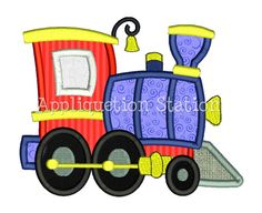Train Engine Applique Machine Embroidery by AppliquetionStation, $3.50