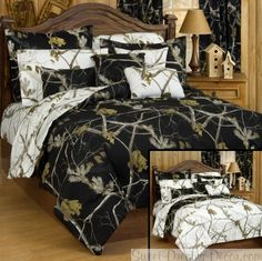 AP Black Camo Reversible Comforter Set - Camouflage Bedding