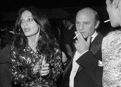 Diane von Furstenberg and Barry Diller at Studio 54, 1977.