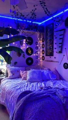 Neon Bedroom, Room Design Bedroom, Room Ideas Bedroom, Diy Bedroom Decor, Indie Bedroom, Bedroom Inspo, Indie Room Decor, Teen Room Decor, Retro Bedrooms