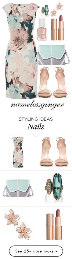 """untitled #576"" by namelessginger on Polyvore featuring Stuart Weitzman, Essie, Emeline Coates, Charlotte Tilbury, NAKAMOL and Sidney Garber"