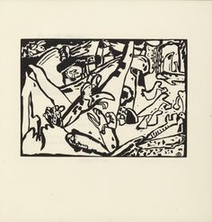 Vasily Kandinsky (French, born Russia. 1866–1944) Composition II (Komposition II) (plate, folio 7) from Klänge (Sounds) (1913) Woodcut from an illustrated book with fifty-six woodcuts