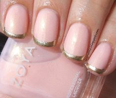 Icy Nails: Zoya Erika With Gold Tips AKA My Kind of Manicure