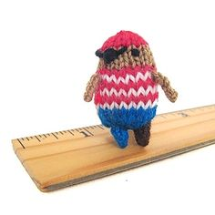 Arrgh! Mochimochi Land Tiny Pirate Knitting Kit + Free Shipping!