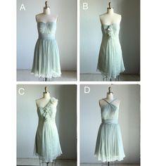 mix match bridesmaid dresses / Romantic / Mint Blue dusty shale / dresses /Fairy / Dreamy / Bridesmaid / Party / wedding / Bride (E004)
