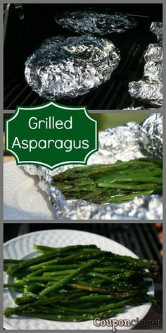 Grilled Asparagus - the BEST Asparagus recipe you will ever try - PLUS it is the easiest! (This was easy and yummy! I added grated parm cheese) Best Asparagus Recipe, Grilled Asparagus Recipes, Grilled Veggies, How To Grill Asparagus, Vegetable Dishes, Vegetable Recipes, Grilling Recipes, Cooking Recipes, Grilling Corn