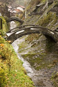Stone bridges, Rakan-ji temple, Iwami Ginzan, Shimane-ken, Japan, 2006 | Flickr - Photo Sharing!