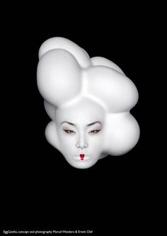 """""""Egg geisha"""", photo by Erwin Olaf"""