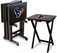 [[start tab]] Description Show your Houston Texans team spirit by having the Texans team logo displayed proudly on these Houston Texans NFL TV Trays. This is sold as a set of four snack trays with a s