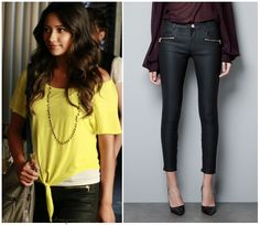 Season 3 Episode 11 Emily's Black Coated Jeans   (I love her outfit ♥)