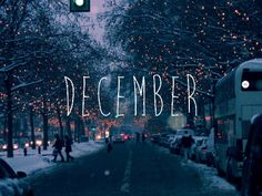 I want it to be December again.