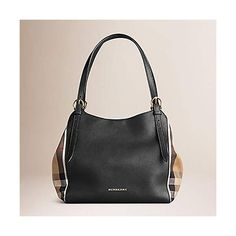 2178a2ea8bff Tote Bag Handbag Authentic Burberry Small Canter in Leather and House Black  Color Made in Italy