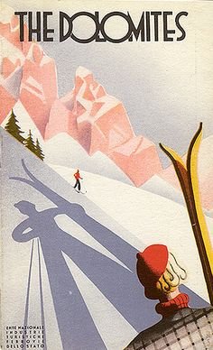 Travel brochure by ENIT (Italian State Tourist Department) & the Italian State Railway, c. 1933, The Dolomites.
