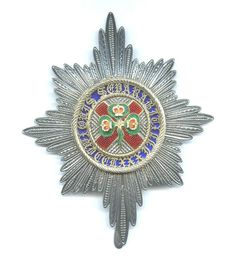 Order of the St. Patrick star, x c. provenance of Arthur Gore, Earl of Arran. Patrick Star, Saint Patrick, Irish Free State, House Of Lords, Order Of The Garter, Arran, Chivalry, The Grandmaster, The St
