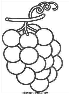 Kids fruit and vegetables embroidery. Fruit Coloring Pages, Preschool Coloring Pages, Easy Coloring Pages, Animal Coloring Pages, Coloring Pages For Kids, Coloring Books, Art Drawings For Kids, Art For Kids, Fruit Crafts