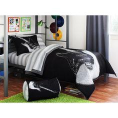 1000 images about luke 39 s room on pinterest bedding sets for Guitar bedding for boys