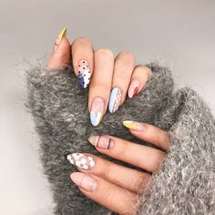 Want some ideas for wedding nail polish designs? This article is a collection of our favorite nail polish designs for your special day. Read for inspiration Nail Art Designs, Short Nail Designs, Nails Design, Cute Nails, Pretty Nails, Hair And Nails, My Nails, Oval Nails, Bright Summer Nails