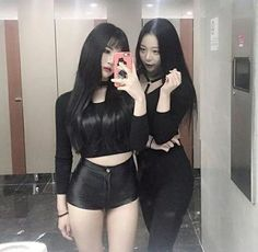 "nisfis on ""~'*- lesbian asian couples -*'~"" Sexy Asian Girls, Beautiful Asian Girls, Asian Fashion, Girl Fashion, Korean Friends, Chica Cool, Ulzzang Korean Girl, Girl Couple, Korean Model"
