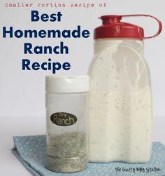 Smaller Portion Best Homemade Ranch Recipe www.thecraftyblogstalker.com