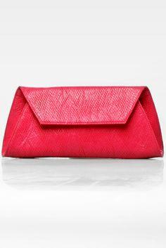 Trapezia 2 clutch bag #trapesium #rhombuspattern #fauxleather #kulit #simple #fashionable #colors #pink