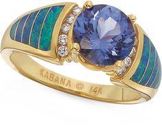 Kabana Ring- Tanzanite and Diamonds with Australian Opal Inlay (my fav stones)