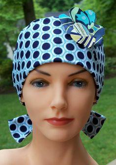 Scrub Hat Chemo Cap with custom applique- Chic Gal