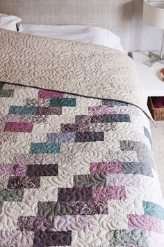 Grandma's Quilt made by Anna Graham using the Side Braid quilt pattern and…