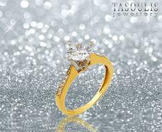 💕Our love is forever!! 💎💍 Εκπληκτικό σχέδιο σε γυναικείο δαχτυλίδι από  κίτρινο 397fa544f7f