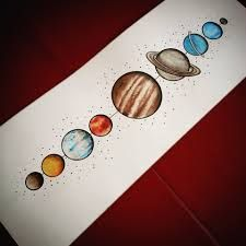 the solar system tattoo - Google Search