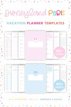 Need help planning your Disneyland Paris trip? 📝 Shop our Disney Vacation Planners that include 40+ printable templates that plan everything from your Disney Parks Itinerary, Dining Reservations, Character Meetings & more! Also included are Disneyland Paris Guides with information about both theme parks, Disney Village & the Hotels. All Disney Planners are Printable & Digital. Start your Paris Disney Trip Planning now & purchase your very own Disneyland Paris Planner. #disneyplanning Disney On A Budget, Disney World Vacation Planning, Disneyland Vacation, Vacation Planner, Disney Tips, Disney Vacations, Disney Parks, Downtown Disney, Trip Planning