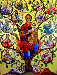 икона Неувядаемый Цвет, Богородица