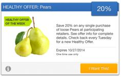 SavingStar Fresh Produce Coupon – Save 20% on Pears