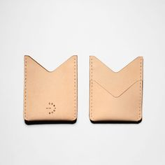 """Vegetable Tan Leather Double Pocket Wallet - Designed for your essentials this slim double pocket wallet features a front pocket to secure and show your metro pass.  Handcrafted in Toronto, Canada.  Vegetable Tanned Leather  Size: 3.75"""" x 3""""  www.contour-co.com   #leather #wallet #vegetabletan #fashion #cardholder"""