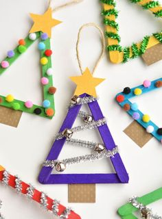 Are you really celebrating Christmas with little ones if you don't make Popsicle stick ornaments with them?